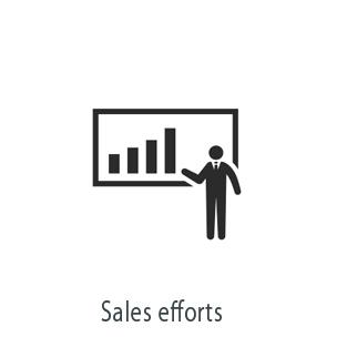 Sales efforts