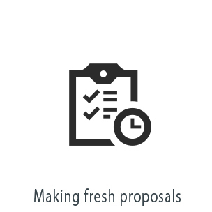 Making fresh proposals
